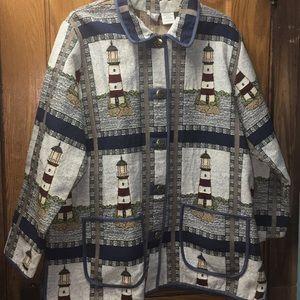 Blair Women's Nautical Theme Jacket with Pockets
